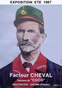 Affiche Coco peintre du facteur Cheval